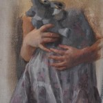 """""""Ella and the Elephant"""", 26 x 33 cm, Oil on Canvas, 2014"""