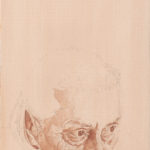 Yossi Mark, Portrait feature, pencil and acrilyc on canvas, 27X42, 2014.