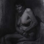 """Eran Webber, Study for """"Royalty"""", charcoal and chalk on toned paper, 50X70, 2011."""